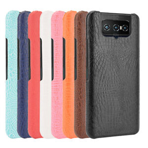 For ASUS Zenfone 7 ZS670KL / 7 Pro ZS671KL Crocodile Leather Skin PC Hard Case
