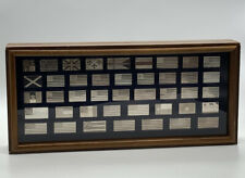 Franklin Mint The Great Flags Of America 1974 Sterling Silver 42 Piece Set
