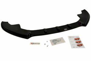 MAXTON FRONT SPLITTER FOR AUDI S4 B8 (2008-11) (GLOSS BLACK)