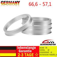 4x Zentrierringe Aluminium Alu 66,6-57,1 für Audi Mercedes VW Seat Skoda Felgen