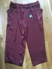 BNWT - NEXT - Wide leg, rust coloured trousers - ORP £42 - Size 20 L