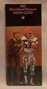 Mint 1985 Cleveland Browns NFL Media Guide Yearbook Press Book Program