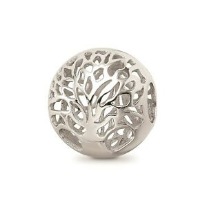 Reflection Beads Sterling Silver High Polished Cut Out Tree Bead