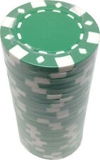 Poker Chips (25) Green FAD 11.5 g Clay Composite FREE SHIPPING *