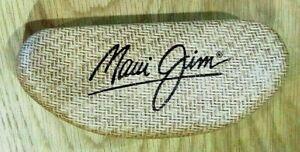 Maui Jim Hard Shell Sun Glass Case, Brown Woven Pattern, Spring Loaded Hinge