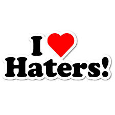 I LOVE HATERS JDM Sticker Decal Car Drift Turbo Euro Fast Vinyl #1197