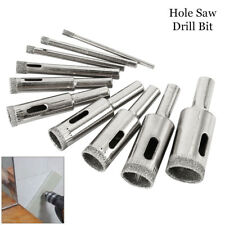 10Pcs Diamond Hole Saw Drill Bit Set Cutter Tool For Glass Ceramic Marble