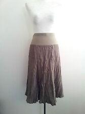 The Ark size S crush sage godet skirt with elasticised waist, slip on slip off