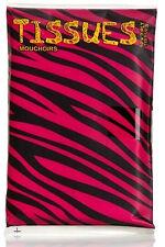 WILD AT HEART Zebra & Leopard Pocket Tissues / Papier TASCHENTÜCHER