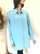 Travel Smith Plus Size 1X Tunic Shirt Designer Fashion Blue Tailored Gift Chic