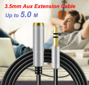 3.5mm Audio Extension Aux Extension Cable Male to Female for Headphone Earphones