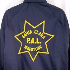 Santa Clara Police Mens Jacket Vintage 80s PAL Wrestling Made In USA Size Large
