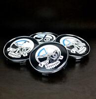 4× 68mm Wheel Centre Cap Pirate Skull Emblem for # 36136783536 E36 E46 E90 F30