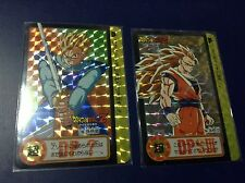 DRAGON BALL Z CARDDASS HONDAN PART 20 no: 154,155 PRISMS CARDS MADE IN JAPAN