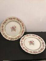 "Pair Of Vintage Gold Castle HOSTESS 9 3/4"" Dinner Plates Made In Japan REG."
