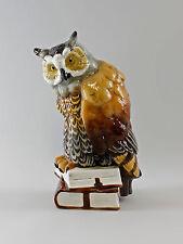 Bomboniera in Porcellana Uccello Gufo su Libri Ens H35cm a4-97844