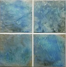 6x6 Porcelain Wall Pool Tile - Vista VI-42 Tahitian Cove
