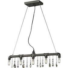 Lussole Retro Industrial Bar Light / Crystal