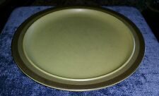 "Kasuga ARROWSTONE Arrow Stone APACHE GOLD Japan Green & Brown 12"" Serving Plate"