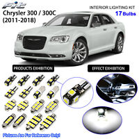 17pcs HID White LED Interior Light Kit Package For 2011-2018 Chrysler 300 / 300C
