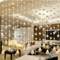 Classic Luxury Glass Beads Door String Tassel Curtain Wedding Divider Panel
