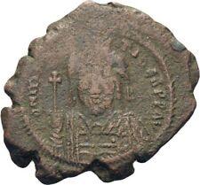 Ancient Byzantine 582- 602 Mauritius Tiberius Kyzikos Large Follis #6