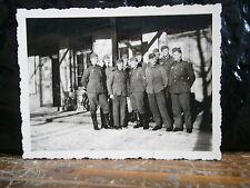 Photo argentique guerre 39 45 soldat Allemand wehrmacht WWII  peloton casernemet