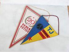 2pc Tesla flag 20 annivercary let Votice Vrable radio computer technics used