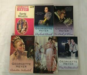 6x Georgette Heyer Books No Wind of Blame They Found Him Dead Sprig Muslin