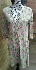 Pretty WHITE STUFF Green/Pink Tunic/Kaftan, Size 16