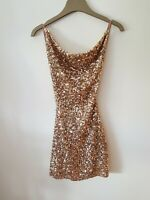 LUXXEL /Womens Sequence Backless Mini Dress Size S / Uk 10 ( NWOT )