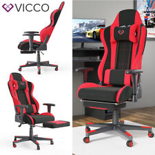 VICCO Gaming Chair ALPHA Racing Stuhl Sessel Bürostuhl Chefsessel Drehstuhl