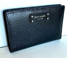 New Kate Spade New York Jeanne Medium Slim Bifold wallet Leather Blazer Blue