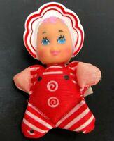 "Baby So Small Lewis Galoob Toys 1989 Plush Stuffed Animal Tiny Doll 2.5"""