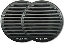 Majestic SPK240 6 Inch Dual Cone Marine RV Outdoor Waterproof Black Speaker Pair