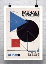 Bauhaus Ausstellung 1923 Vintage Poster Rolled Canvas Giclee Print 24x34 in.