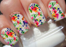 Flowers A1025 Nail Art Stickers Transfers Decals Set of 22