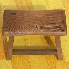 Small Wooden Wood Stool Bench Furniture for Adult Vintage Style Chinese Craft