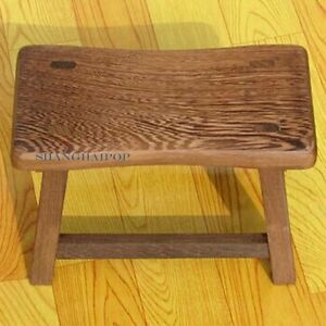 Small Wooden Wood Stool Bench Furniture for Adult Retro Chinese Style Craft