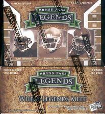 2011 PRESS PASS LEGENDS FOOTBALL HOBBY BOX BLOWOUT CARDS