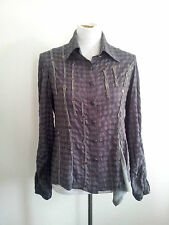 Definitive Look! Boo Radley size S grey check shirt in excellent condition