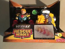 2004 NEW Fisher Price Rescue Heroes JACK HAMMER & C-MENT