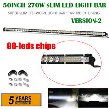 "50"" 270W Ultra Slim LED Work Light Bar Combo Single Row Fit For Jeep Truck ATV"