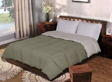 Twin/TwinXL Ivory & Sage Green All Season Reversible Down Alternative Comforter