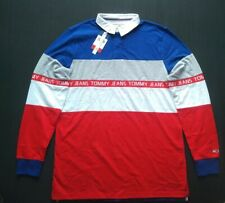 TOMMY JEANS  COLOUR-BLOCKED RUGBY SHIRT SIZE S