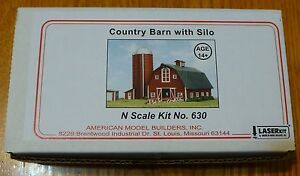 American Model Builders, Inc #630 Country Barn with Silo (Kit Form) N Scale