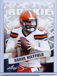 """RARE"" BAKER MAYFIELD 2018 LEAF ""PRIZED"" ROOKIE CARD #03! NFL #1 PICK"