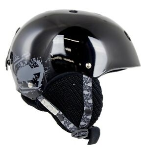 NEW High End $120 Adult Mens Capix Black Team Snowboard Ski Helmet SM/MED LAR/XL
