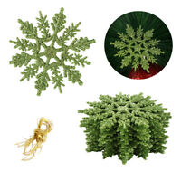 12 Pcs Christmas Snowflake Tree Ornament Xmas Haning Party Holiday Home Decor