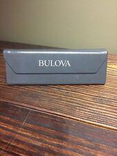 BULOVA Triangular Glasses SunGlasses Leather Magnetic Hard Case Gray